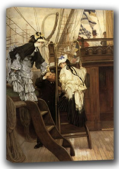 Tissot, James Jacques Joseph: Boarding the Yacht. Fine Art Canvas. Sizes: A4/A3/A2/A1 (001636)